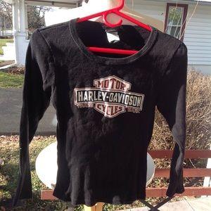 Boys Harley Davidson thermal shirt.